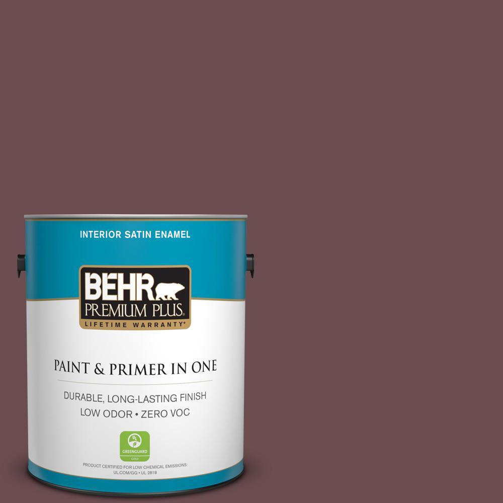 1-gal. #710B-6 Painted Leather Zero VOC Satin Enamel Interior Paint