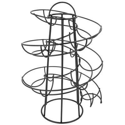 Black Egg Skelter Deluxe Modern Spiraling Dispenser Rack