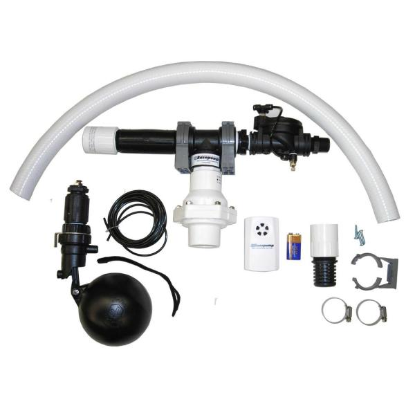 725 GPH Residential Water Powered Backup Sump Pump with Water Alarm
