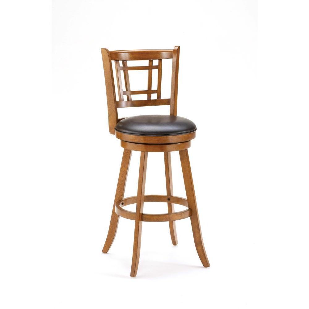Hilale Furniture Fairfox 24 5 In Swivel Counter Stool Oak