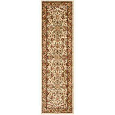 Lyndhurst Ivory/Tan 2 ft. x 18 ft. Runner Rug
