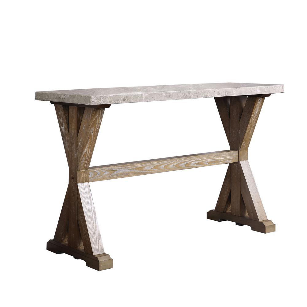 furniture of america strummer natural marble top sofa table idf rh homedepot com ashley marble top sofa table ashley marble top sofa table