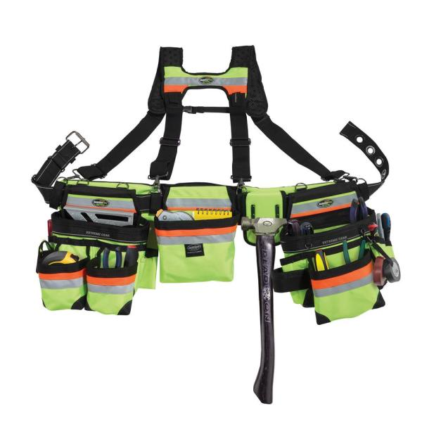 37 in. 23-Pocket Hi-Visibility 3-Bag Framer's Rig