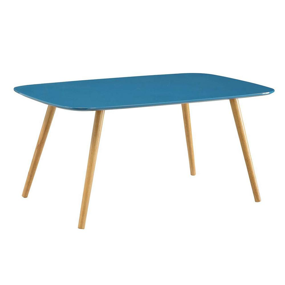 Convenience Concepts Oslo Blue Coffee Table