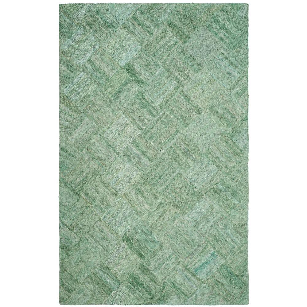 Nantucket Green/Multi 5 ft. x 8 ft. Area Rug