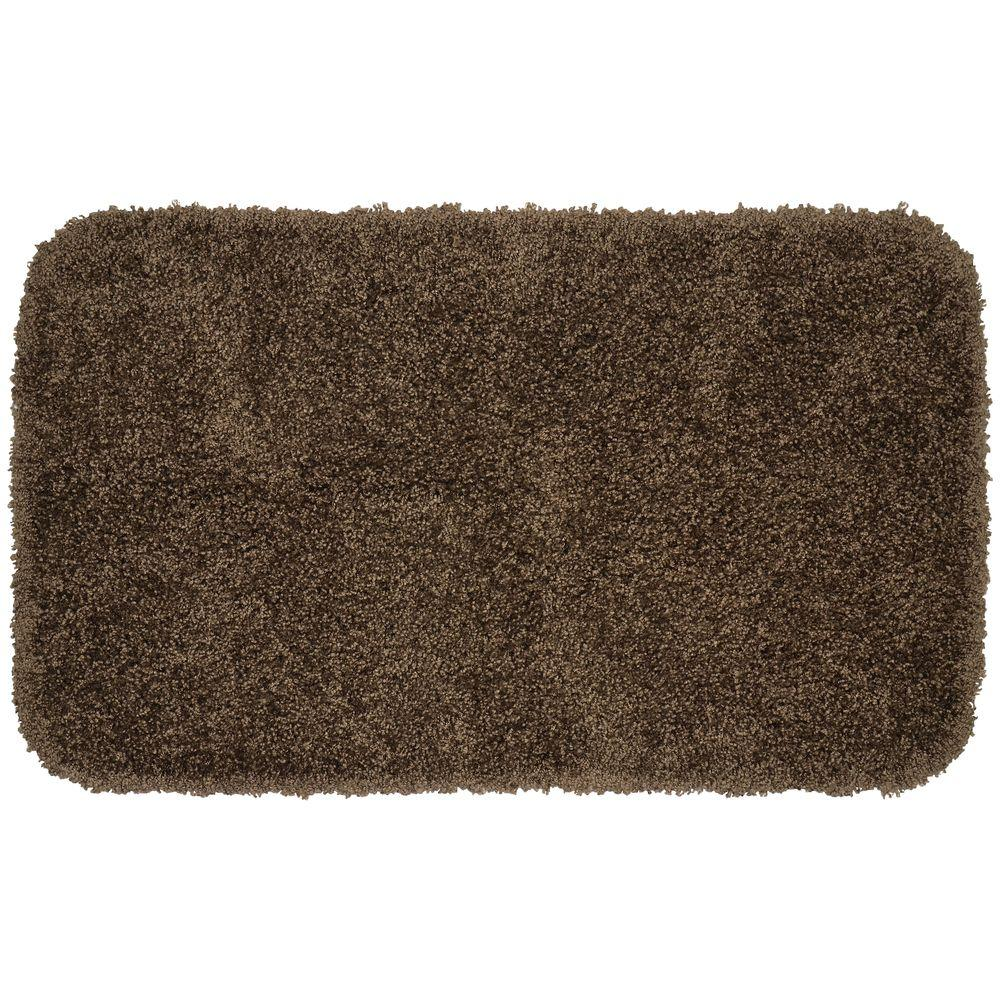 Serendipity Chocolate (Brown) 24 in. x 40 in. Shaggy Washable Nylon Rug