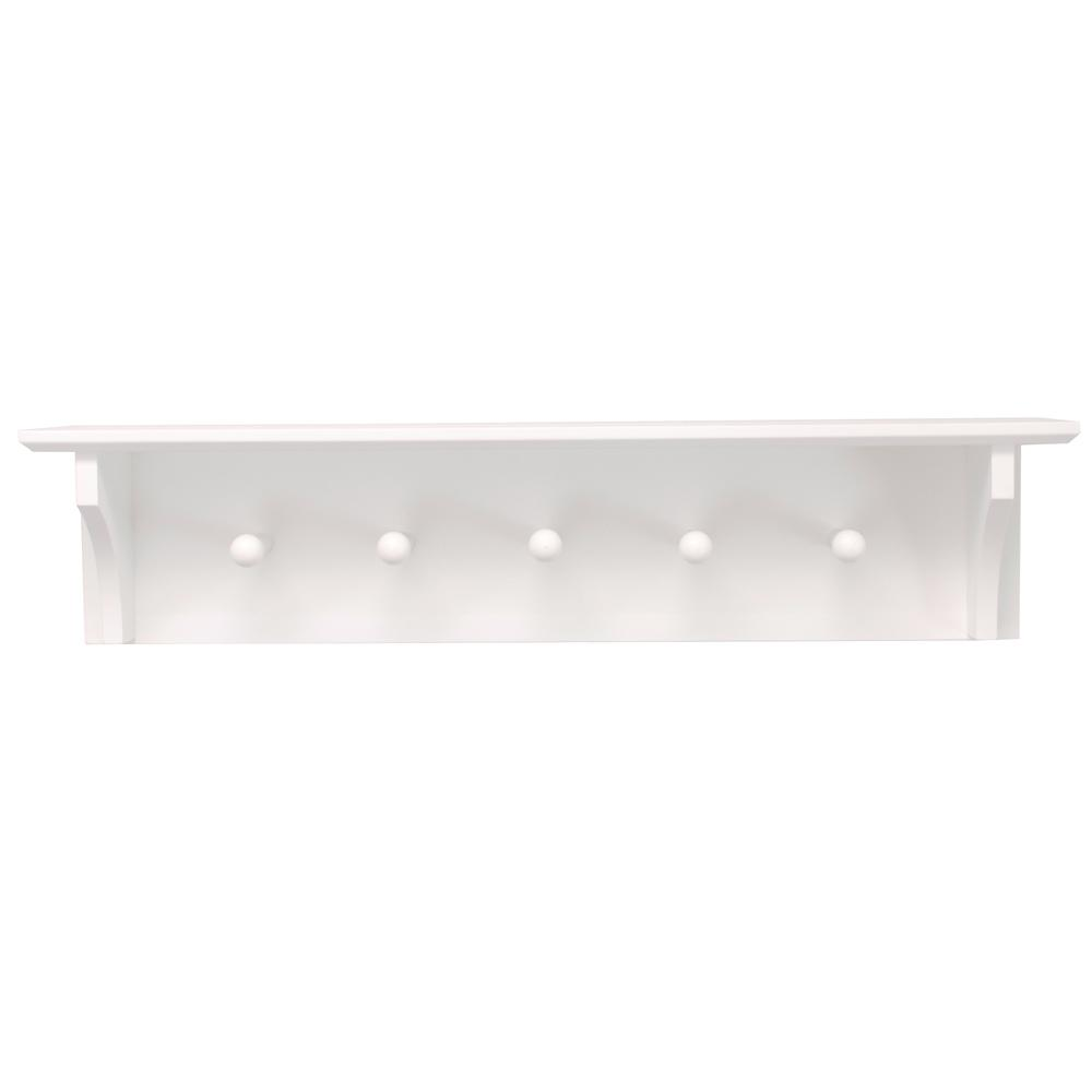 Home Decorators Collection 24 In X In White Euro Floating Wall Shelf 2455410410 The