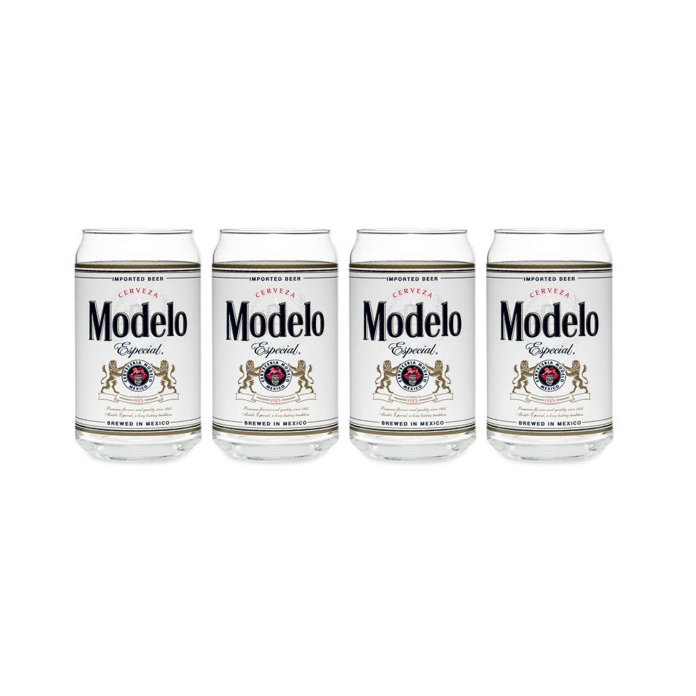 Modelo 16 oz. Can Glass (Set of 4)