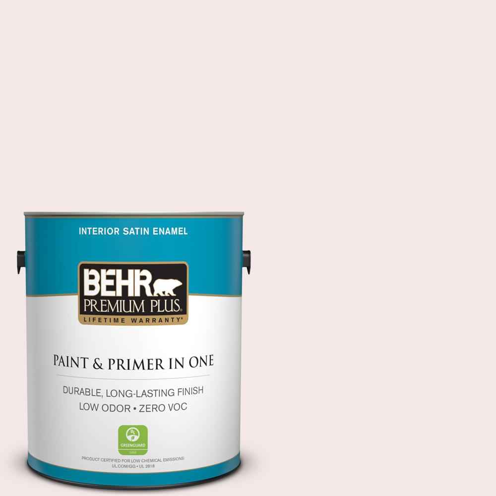 BEHR Premium Plus 1-gal. #770A-1 Quartz White Zero VOC Satin Enamel Interior Paint