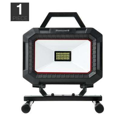 Black and Red Integrated LED Portable Work Light