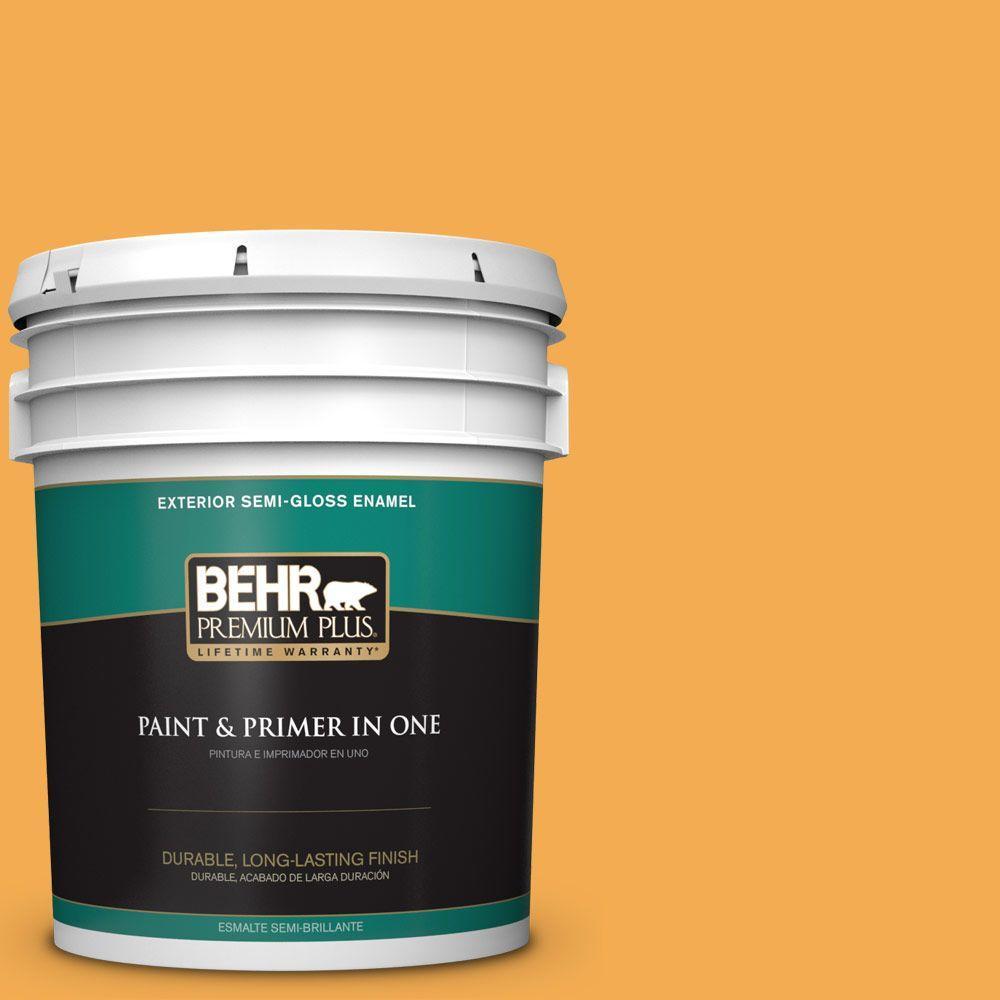 5-gal. #290B-6 Squash Semi-Gloss Enamel Exterior Paint