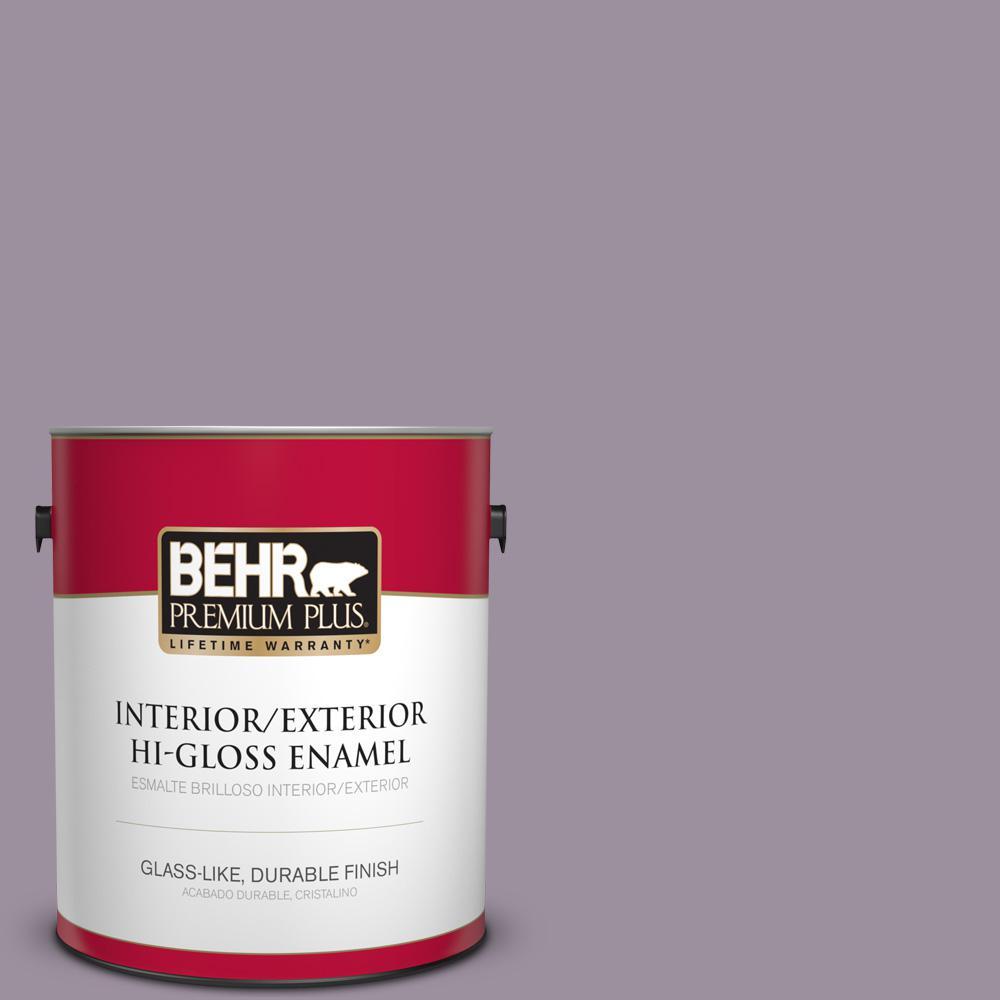 1 gal. #PPU16-13 Duchess Lilac Hi-Gloss Enamel Interior/Exterior Paint