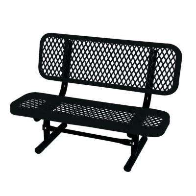 3 ft. Diamond Black Commercial Park Preschool Bench