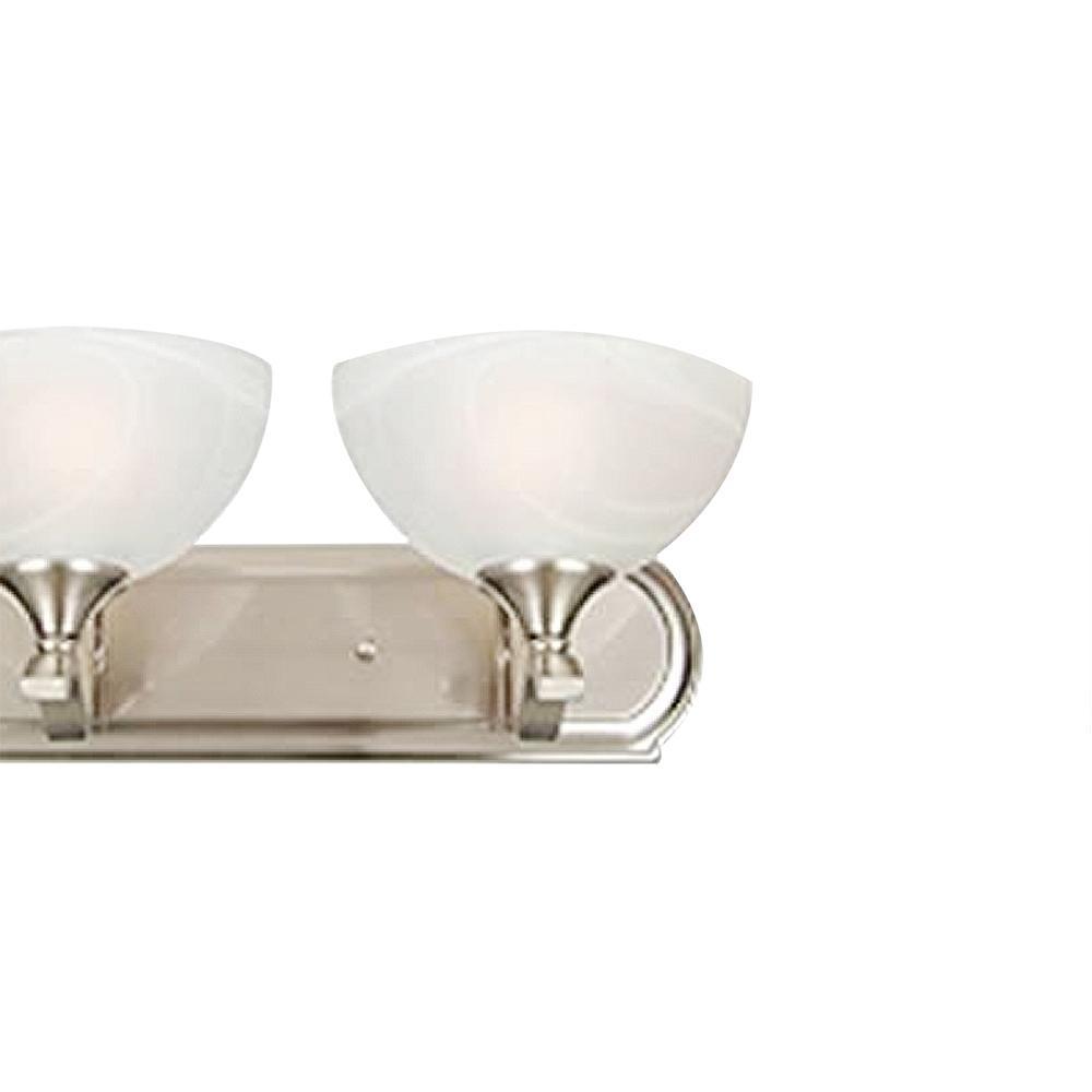 Rick 3 Light Satin Nickel Bath Vanity Light L33s The Home Depot