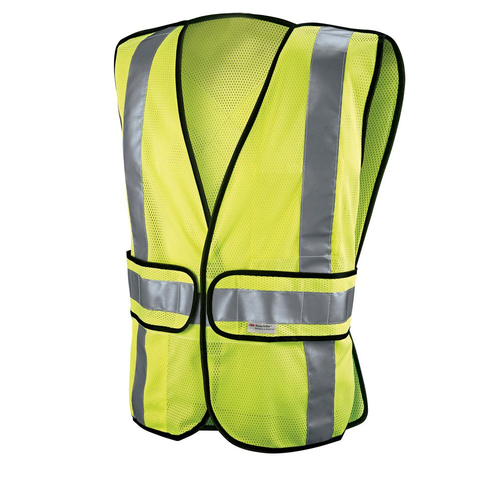 3M High-Visibility Yellow Polyester Reflective Class 2 Construction Reflective Safety Vest