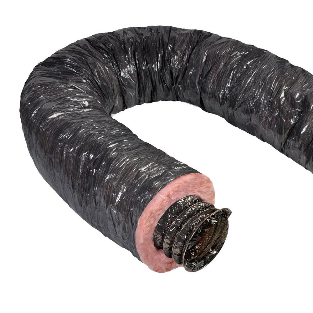 Master Flow Mobile Home 12 in. x 25 ft. Insulated Flexible Duct R4.2 Black Jacket