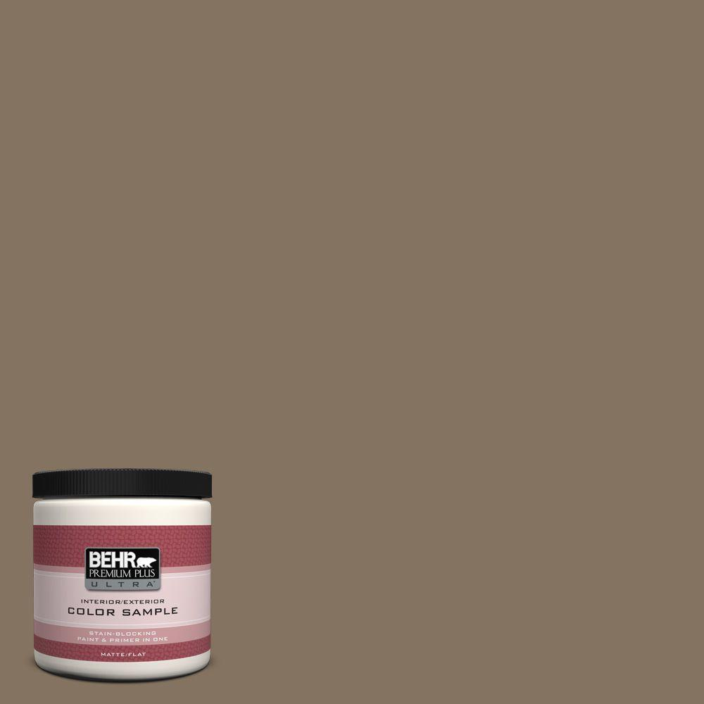 8 oz. #BXC-05 Mudslide Matte Interior/Exterior Paint and Primer in One