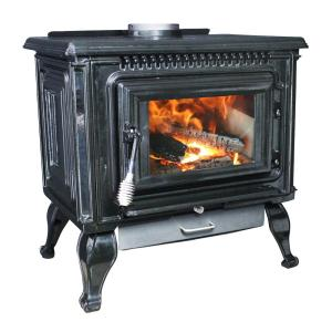 Ashley Hearth Products 2,000 sq. ft. EPA Certified Black Enameled Porcelain Cast Iron Wood... by Ashley Hearth Products
