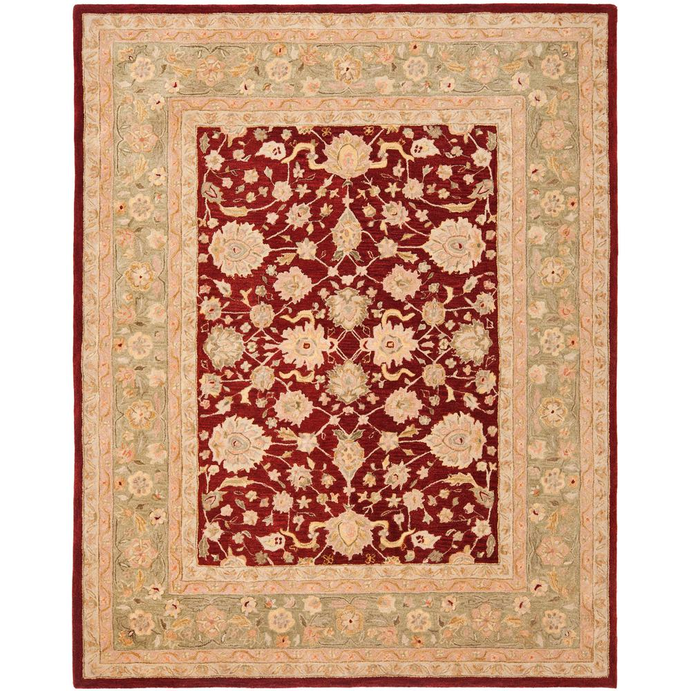 Safavieh Anatolia Red/Moss 8 Ft. X 10 Ft. Area Rug-AN522D