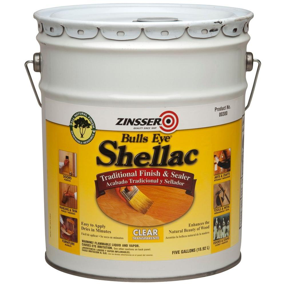 Zinsser 5 gal. Clear Shellac Traditional Finish and Sealer