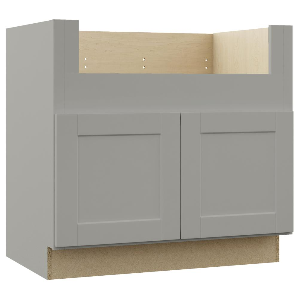Hampton Bay Shaker Assembled 36x34.5x24 in. Farmhouse Apron-Front ...