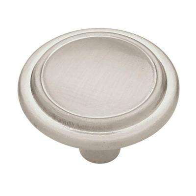 Top Ring Round 1-1/4 in. (32mm) Satin Nickel Cabinet Knob (10-Pack)