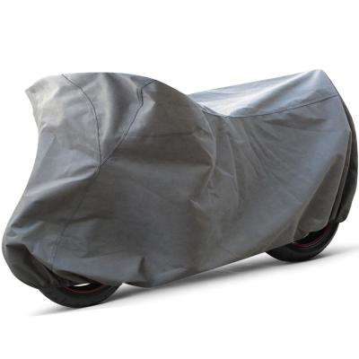 Economy Polyproplene 106 in. x 57 in. x 55 in. Medium Indoor Motorcycle Cover