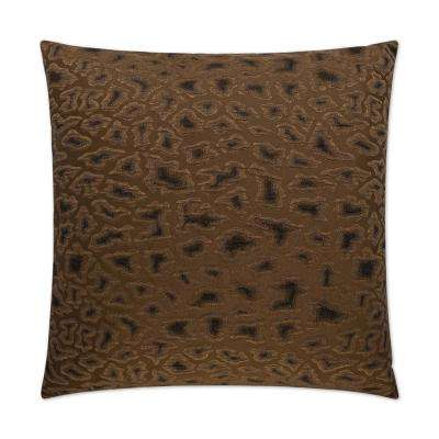 Cabenet Chocolate Feather Down 24 in. x 24 in. Standard Decorative Throw Pillow