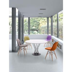 Probability Gray Velour Side Chair