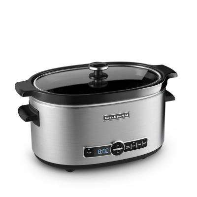 6 Qt. Slow Cooker with Solid Glass Lid