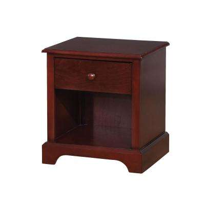Diane Cherry Transitional Style Nightstand