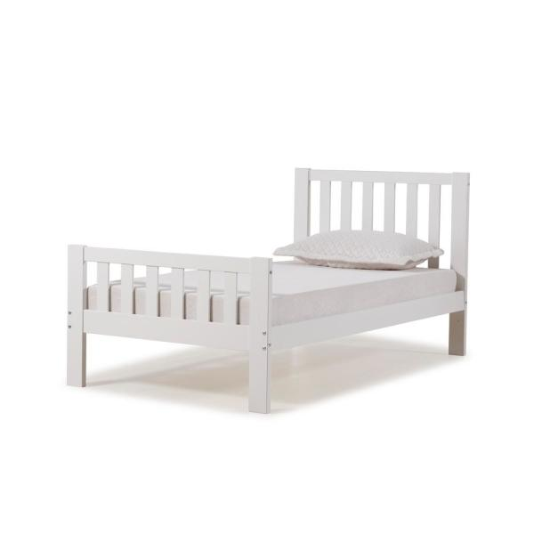 Aurora White Twin Bed