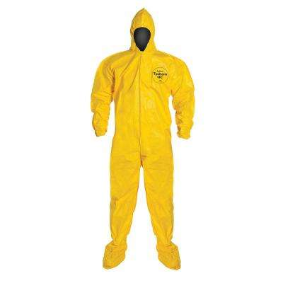 Extra Large Yellow Coverall with Hood and Boot