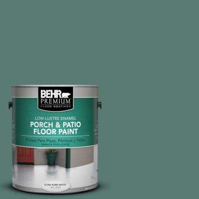 1 gal. #S430-6 Forest Edge Low-Lustre Porch and Patio Floor Paint