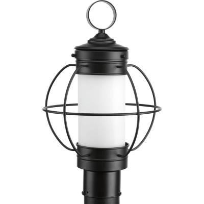Haddon Collection 1-Light Outdoor Black Post Lamp
