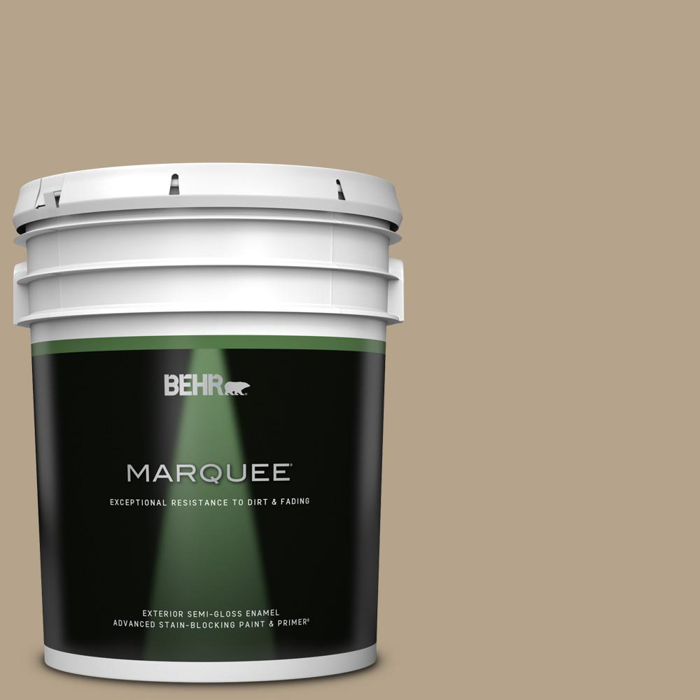 Behr Marquee 5 Gal Ecc 53 2 Wild Rye Semi Gloss Enamel Exterior Paint And Primer In One 545405 The Home Depot