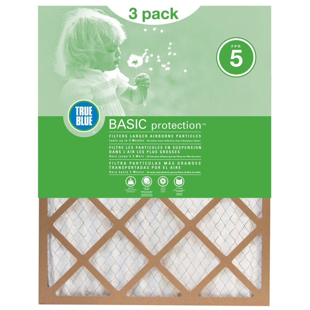 Protect Plus 12 in. x 36 in. x 1 in. Basic Pleated FPR 5 Air Filter (3-Pack)