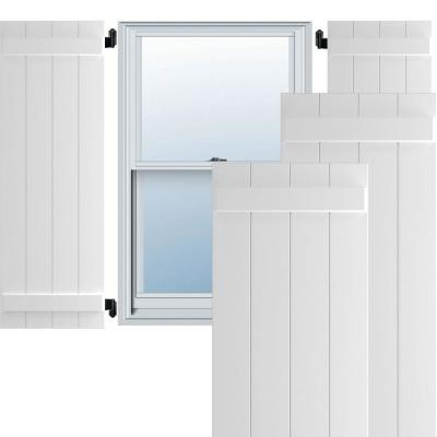 Ekena Millwork 21 1 2 X 60 True Fit Pvc Four Board Joined Board N Batten Shutters Unfinished Per Pair 1573330 The Home Depot