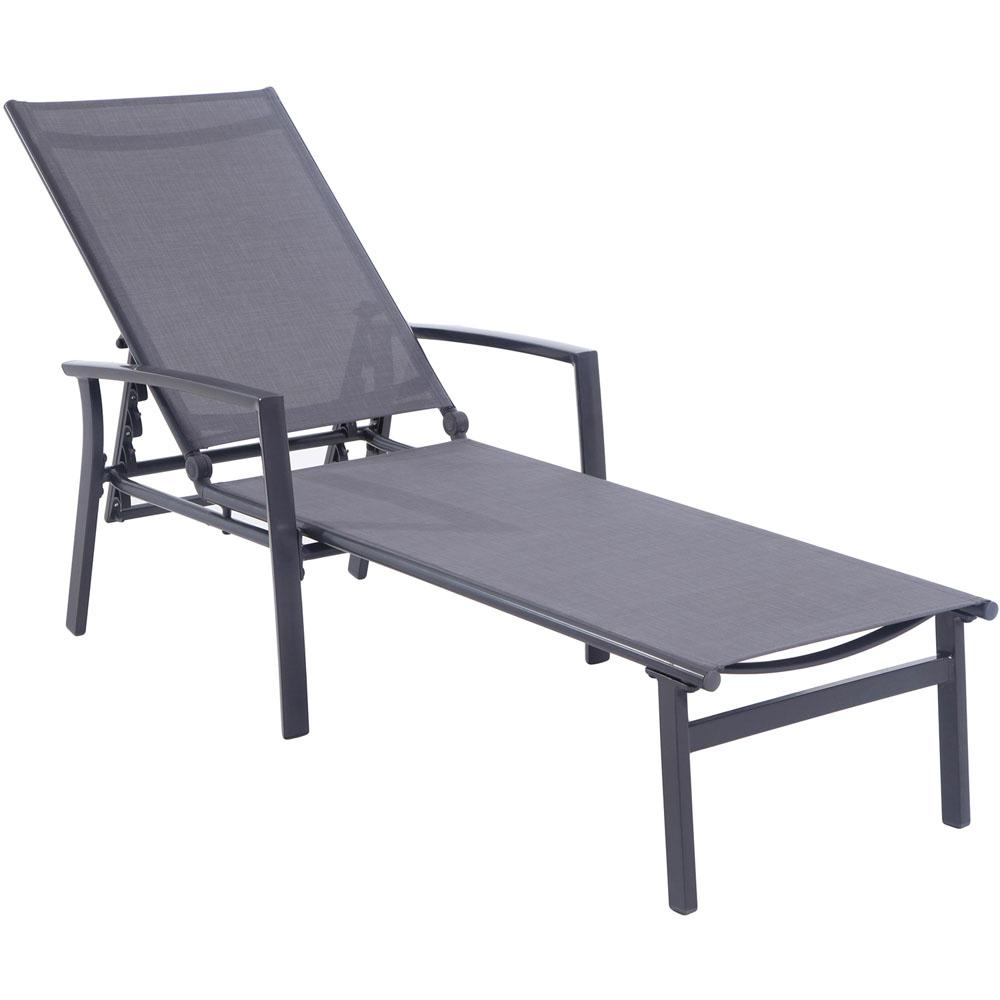 Cambridge nova aluminum adjustable outdoor chaise lounge for Aluminum outdoor chaise lounge