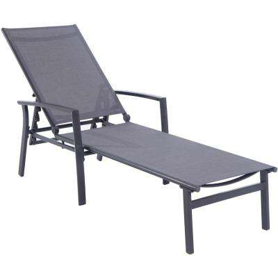 Nova Aluminum Adjustable Outdoor Chaise Lounge in Gray