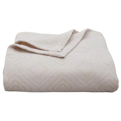 1-Piece Natural Palm Desert Cotton Full/Queen Blanket