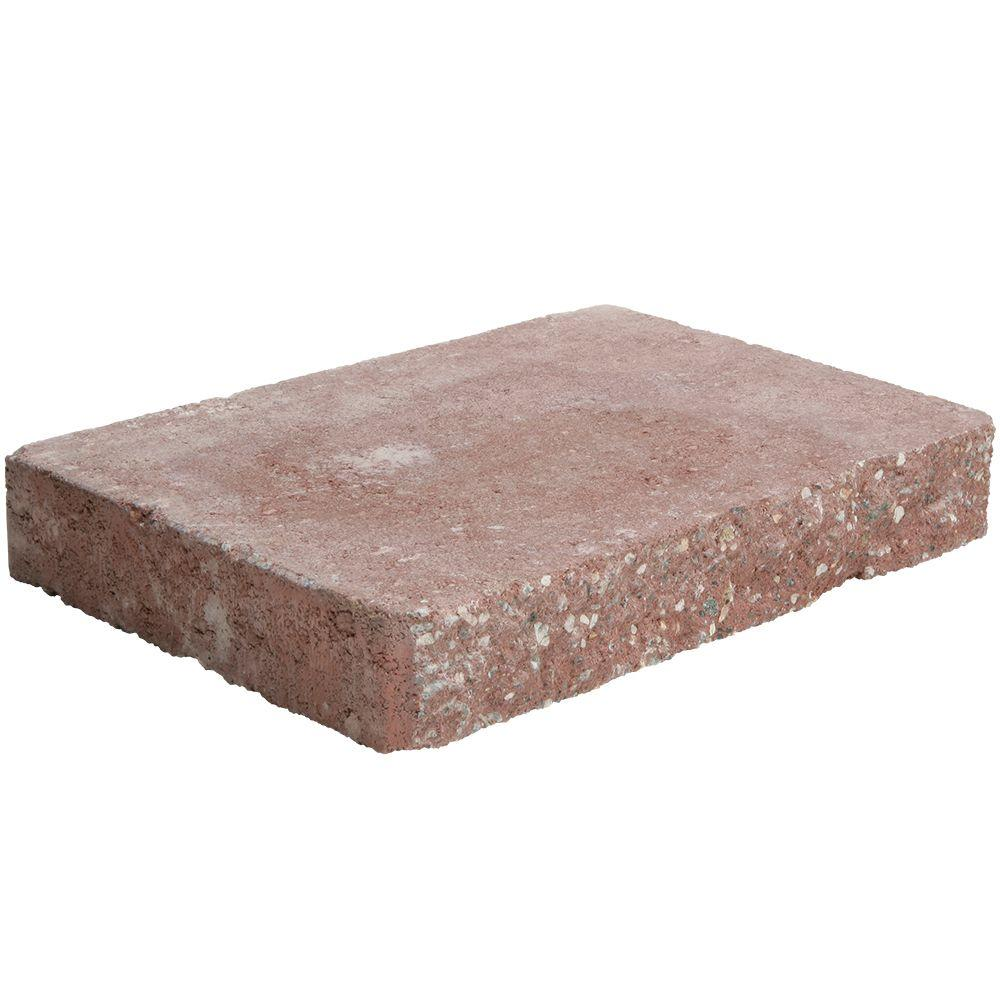 12 in. x 8 in. x 2 in. River Red Concrete