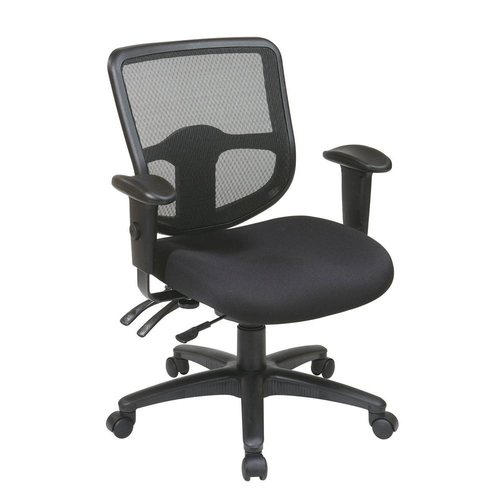 Pro-Line II Black Office Chair-98344-30 - The Home Depot