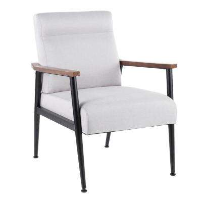 Nigiri Contemporary Light Grey Upholstered Arm Chair
