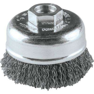 3 in. x 5/8 in.-11 Crimped Wire Cup Brush
