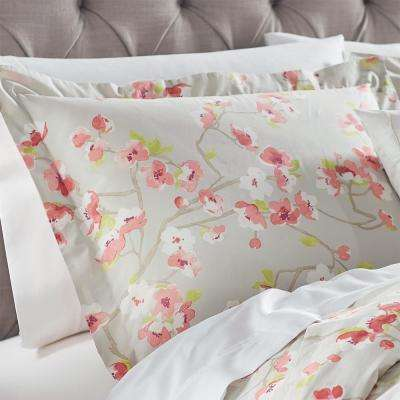 Hana Grey/Pink Euro Pillow Sham