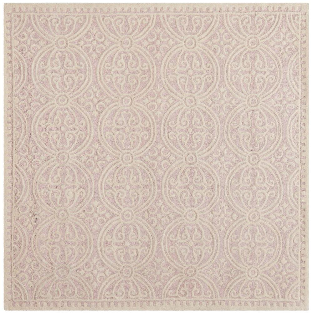 Safavieh Cambridge Light Pink Ivory 4 Ft X 4 Ft Square