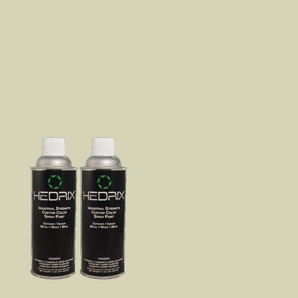 Hedrix 11 oz. Match of PPU10-9 Chinese Jade Flat Custom Spray Paint (8-Pack)