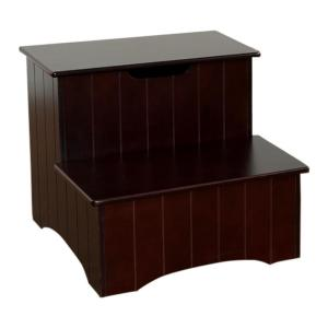 Kings Brand Furniture 2 Step Cherry Wood Stool With