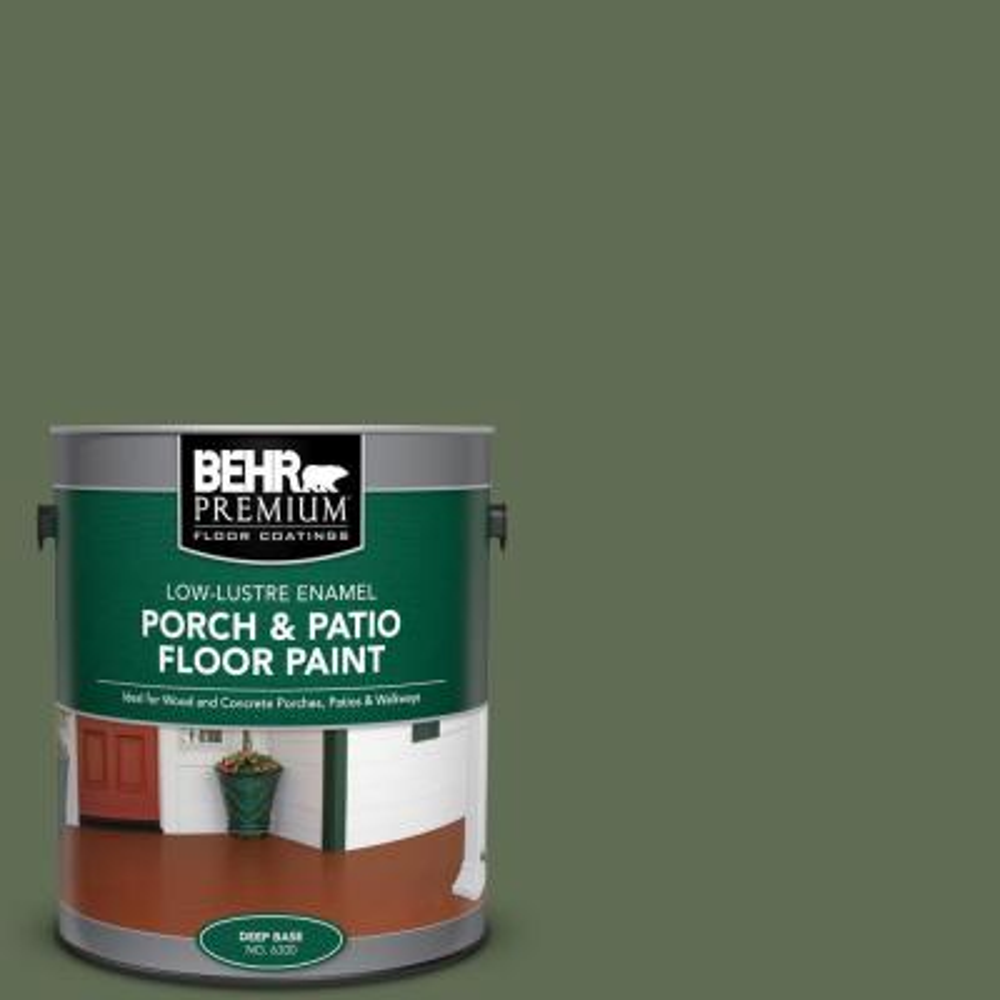 Behr Premium 1 Gal Ecc 38 3 Sea Fern Low Lustre Enamel Interior Exterior Porch And Patio Floor Paint 630001 The Home Depot
